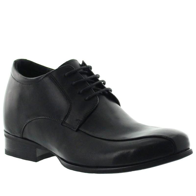 Cesio Elevator Derby Shoes Black +2.8''