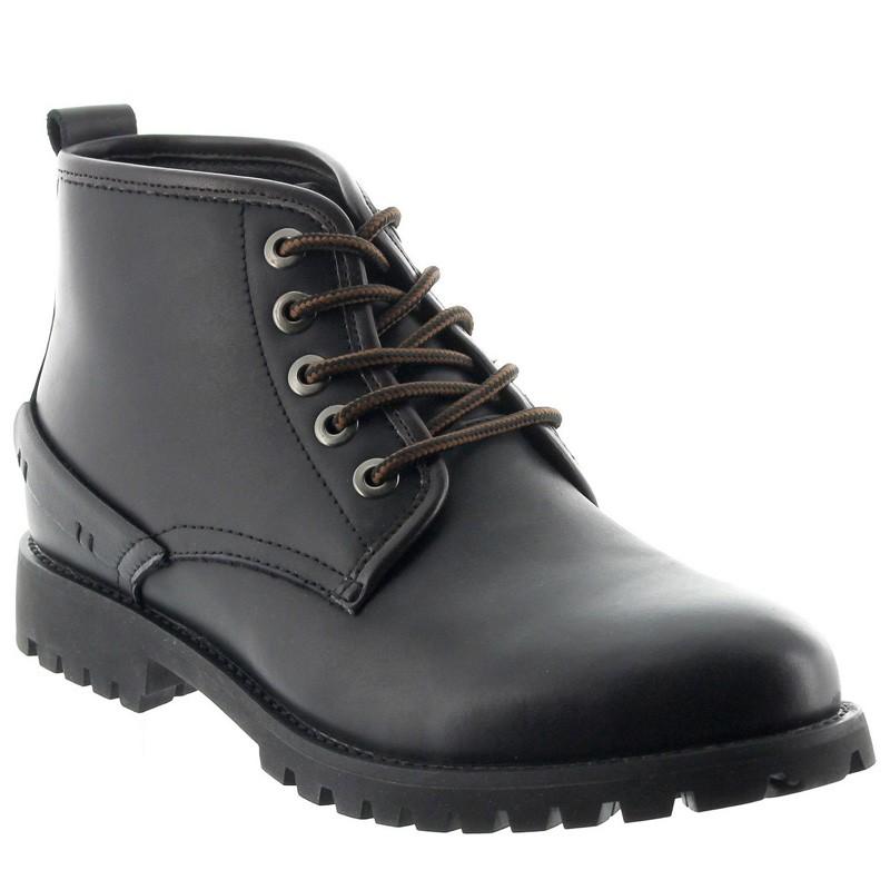 Height Increasing Boots Men - Black - Leather - +2.4'' / +6 CM - Norcia - Mario Bertulli