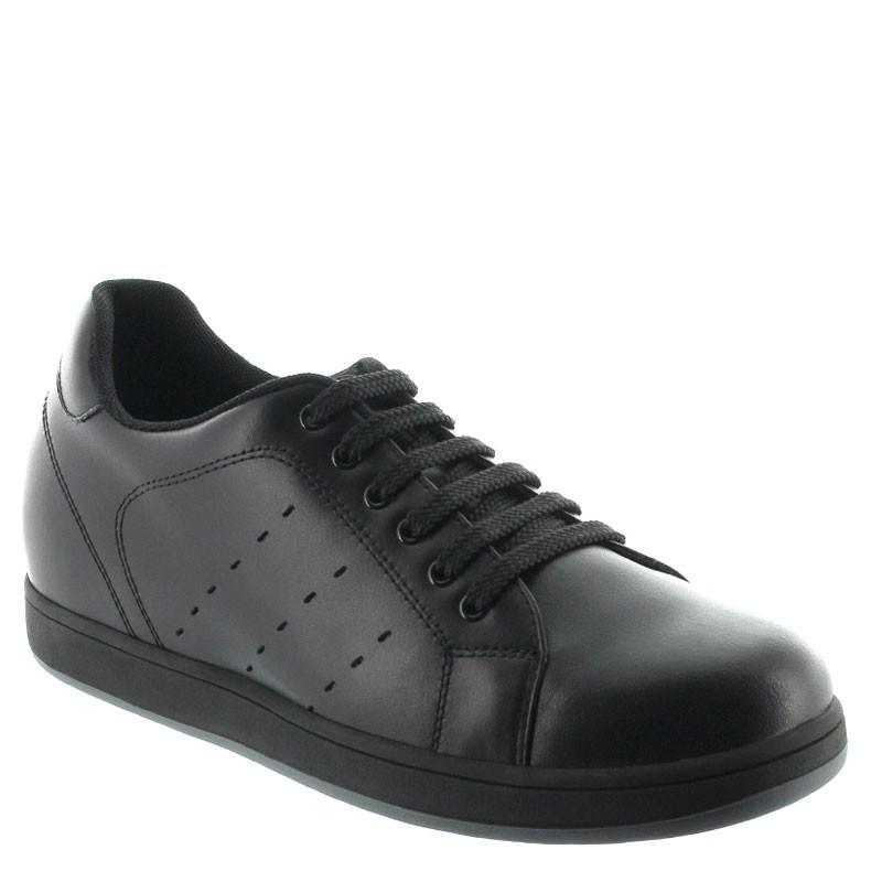 Height Increasing Sports Shoes Men - Black - Leather - +2.8'' / +7 CM - Airole - Mario Bertulli
