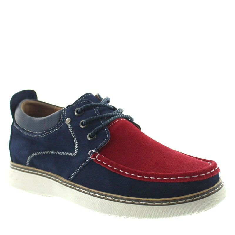 Pistoia Elevator Shoes Navy blue/red +2.2''