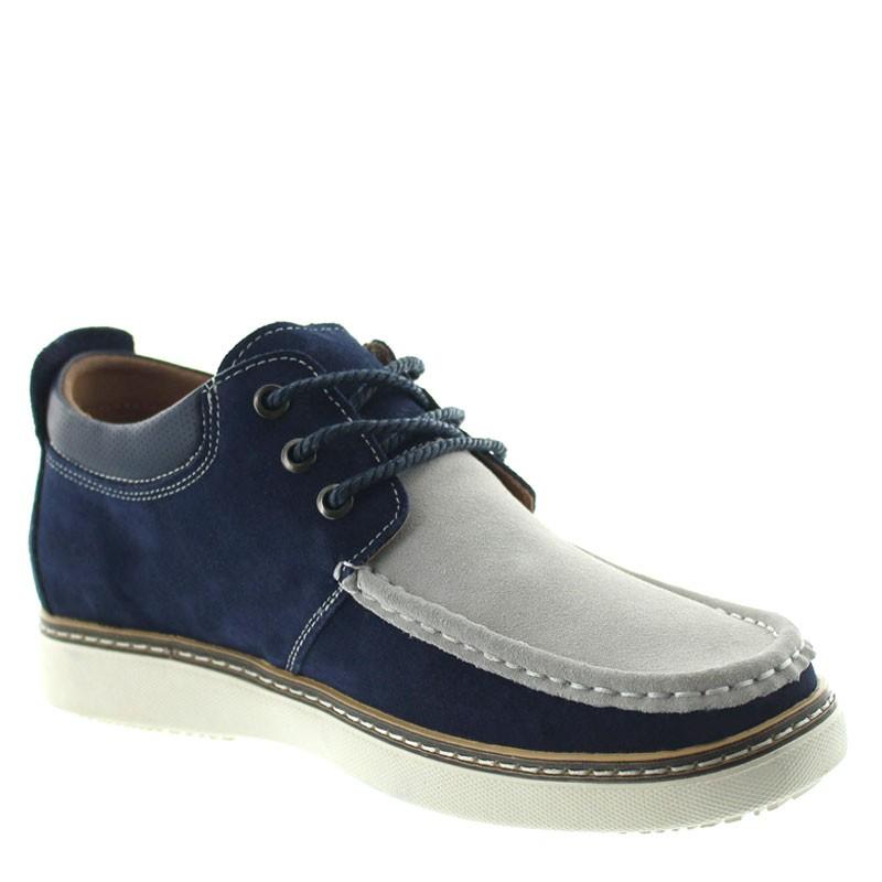 Pistoia Elevator Shoes Navy blue/grey +2.2''