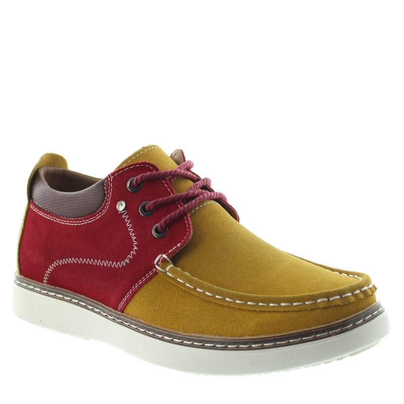 Pistoia Elevator Shoes Cognac/red +2.2''
