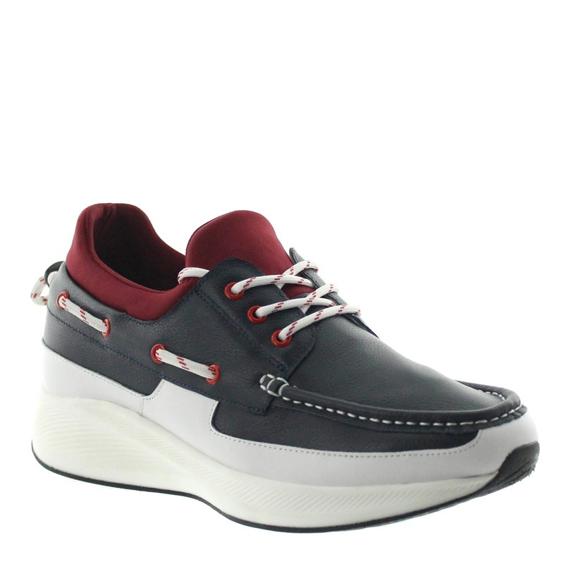 Diano Elevator Shoes Navy blue/red +2.4''