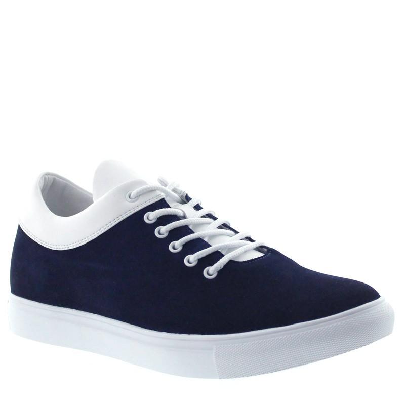 "Dolcedo Elevator Sneakers Navy Blue/White +2,4cm"""