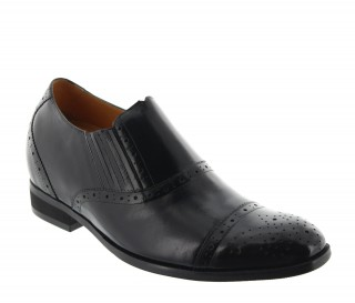 Orvieto Elevator Loafer Shoes Black +7""