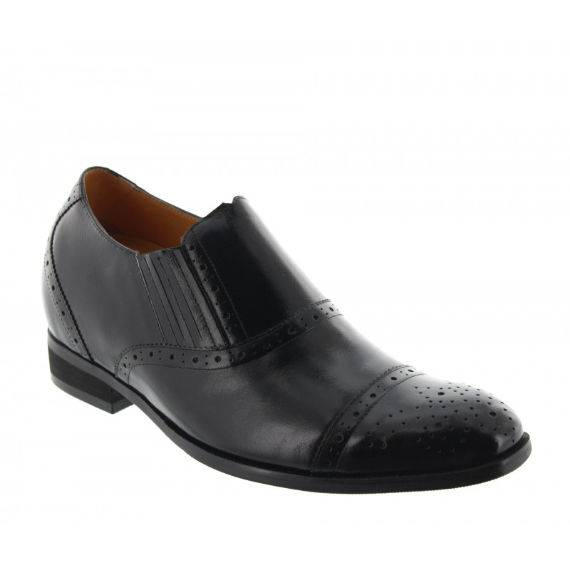 Height increasing loafers Men - Black - Leather - +2.8'' / +7 CM - Orvieto - Mario Bertulli