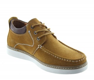 Height Increasing Boat Shoes Men - Cognac - Nubuk - +2.2'' / +5,5 CM - Pistoia - Mario Bertulli