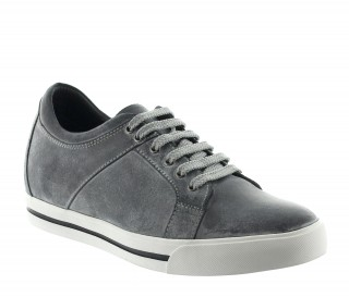Height Increasing Sports Shoes Men - Dark gray - Leather - +2.4'' / +6 CM - Mondolfo - Mario Bertulli