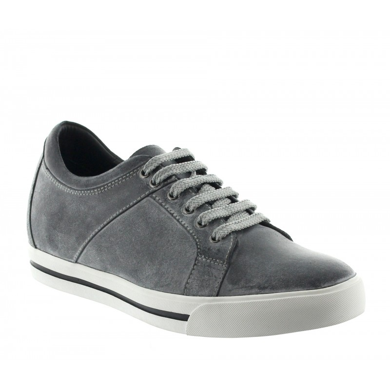 Height Increasing Sports Shoes Men - Dark grey - Leather - +2.4'' / +6 CM - Mondolfo - Mario Bertulli