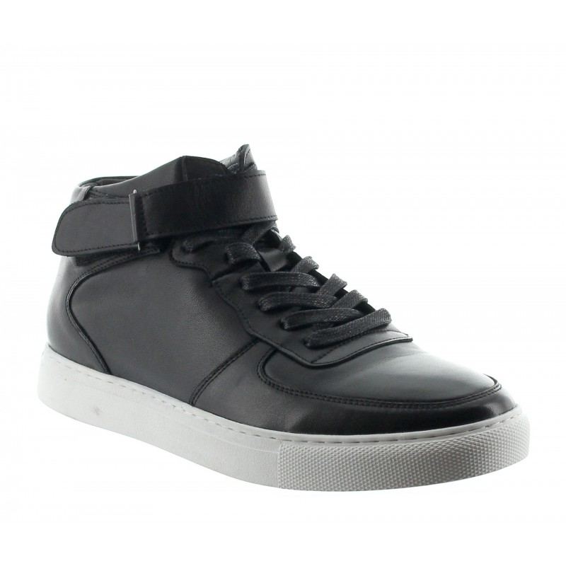 OLIVETTA SNEAKERS BLACK LEATHER +2""