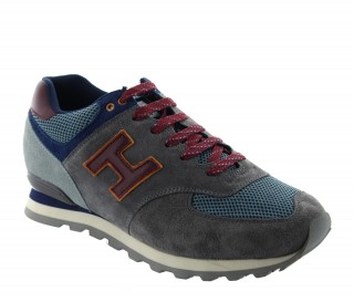 Height Increasing Sports Shoes Men - Dark gray - Nubuk / Fabric - +2.4'' / +6 CM - Vernante - Mario Bertulli