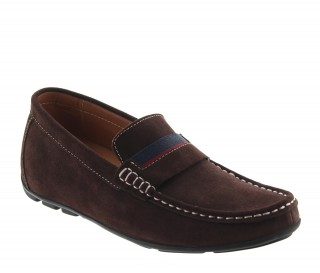 Height increasing loafers Men - Brown - Nubuk - +2.0'' / +5 CM - Sardegna - Mario Bertulli