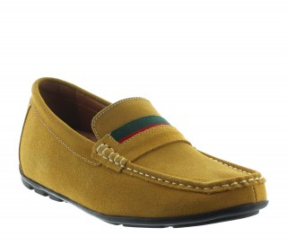 Loafer elevator shoes sardegna cognac +2''