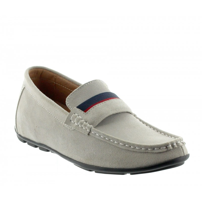 Height increasing loafers Men - Light gray - Nubuk - +2.0'' / +5 CM - Sardegna - Mario Bertulli