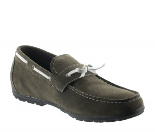 Height increasing loafers Men - Taupe - Nubuk - +4CM - Portofino - Mario Bertulli
