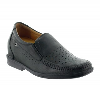 Height increasing loafers Men - Black - Leather - +2.8'' / +7 CM - Ragusa - Mario Bertulli