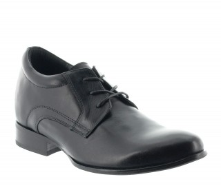 Height Increasing Derby Shoes Men - Black - Leather - +2.8'' / +7 CM - Ostana - Mario Bertulli