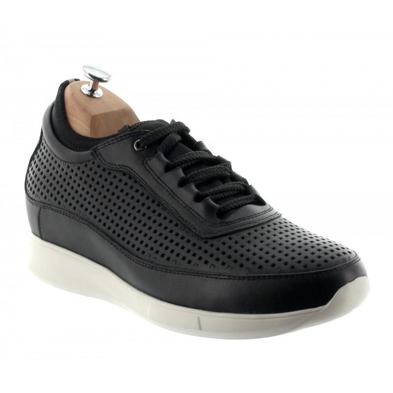 Height Increasing Sports Shoes Men - Black - Cuir/microfibre - +2.4'' / +6 CM - Cortina - Mario Bertulli