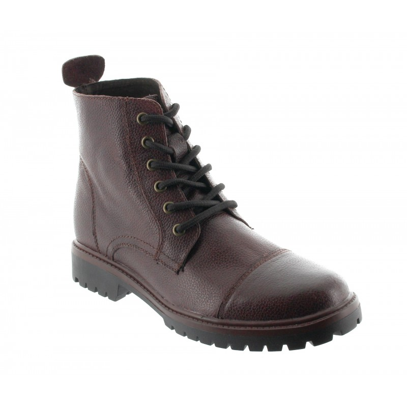 Height Increasing Boots Men - Brown - Leather - +2.6'' / +6,5 CM - Salerno - Mario Bertulli