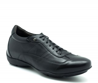 Height Increasing Sneakers Men - Black - Full grain calf leather - +2.0'' / +5 CM - Arezzo - Mario Bertulli