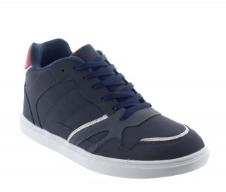 Height Increasing Sports Shoes Men - Blue - Leather / Fabric - +2.2'' / +5,5 CM - Procida - Mario Bertulli