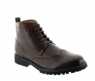 Height Increasing Boots Men - Brown - Leather - +2.8'' / +7 CM - Abetone - Mario Bertulli