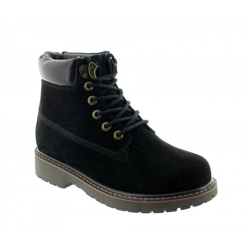 Height Increasing Boots Men - Black - Nubuk - +2.8'' / +7 CM - Frabosa - Mario Bertulli