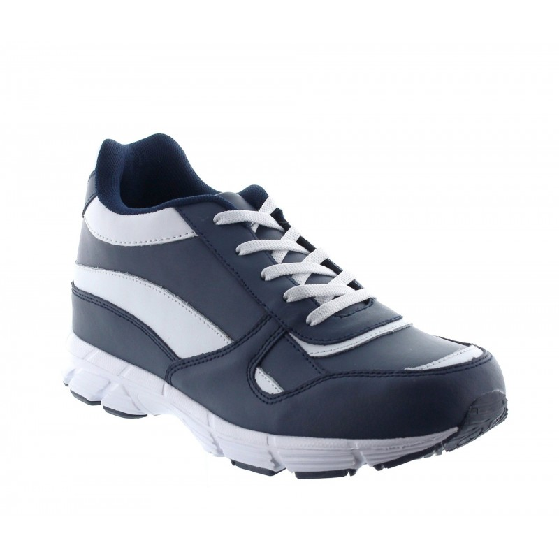 Height Increasing Sports Shoes Men - Blue - Leather - +2.4'' / +6 CM - Mileto - Mario Bertulli