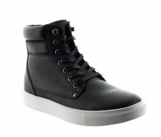 Height Increasing Boots Men - Black - Leather - +2.2'' / +5,5 CM - Cesena - Mario Bertulli