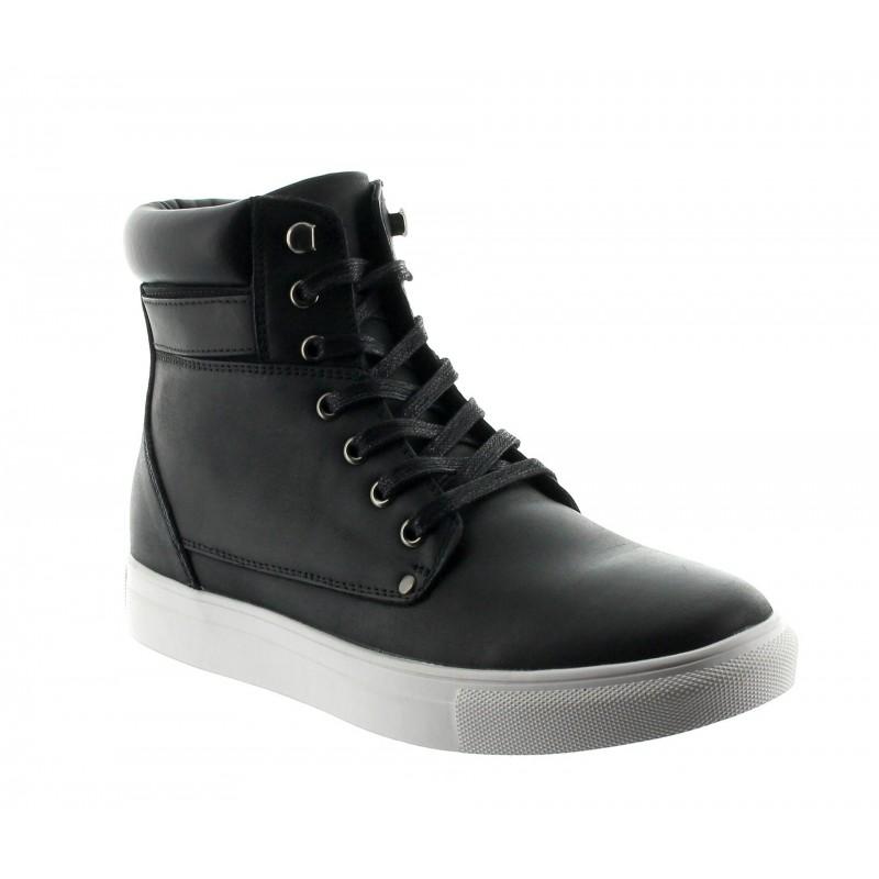 Height Increasing Boots Men - Black - Leather - +2.2'' / +5,5 CM - Cesena - Mario Bertulli