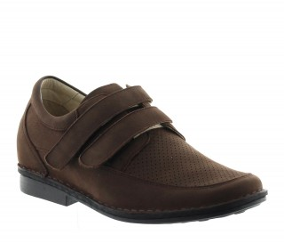Height Increasing Sandals Men - Brown - Nubuk - +2.8'' / +7 CM - Bormida - Mario Bertulli