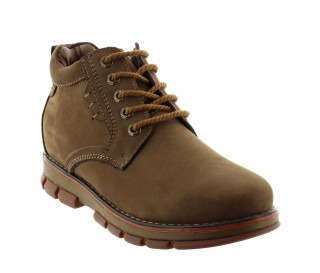 Height Increasing Boots Men - Brown - Leather - +2.8'' / +7 CM - Trapani  - Mario Bertulli