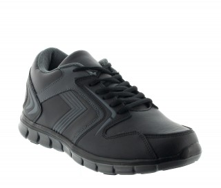 Height Increasing Sports Shoes Men - Black - Leather - +2.2'' / +5,5 CM - Biella - Mario Bertulli