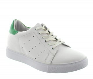 Height Increasing Sports Shoes Men - White - Leather - +2.0'' / +5 CM - Portovenere - Mario Bertulli