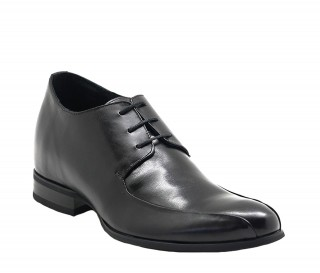 Buy Atessa Black Men's Height Increasing Leather Derby Shoes Adds +2.8'' -  Exterior One Shoe