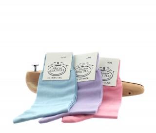 1 PACK OF 3 LISLE COTTON SOCKS - BLUE SKY/LAVENDER/PINK