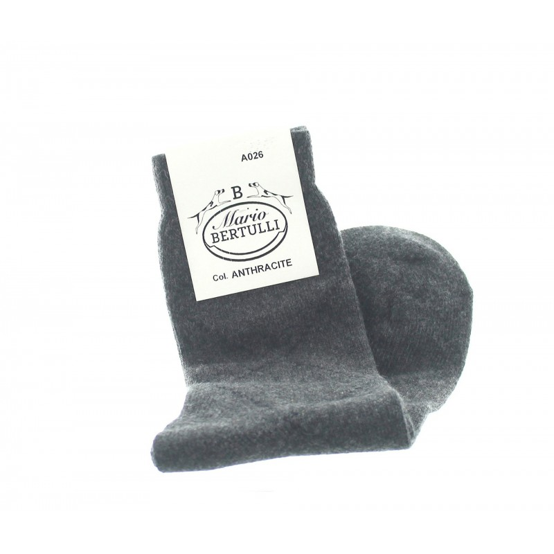 Anthracite wool/cachemire socks - Cashmere Socks from Mario Bertulli - specialist in height increasing shoes