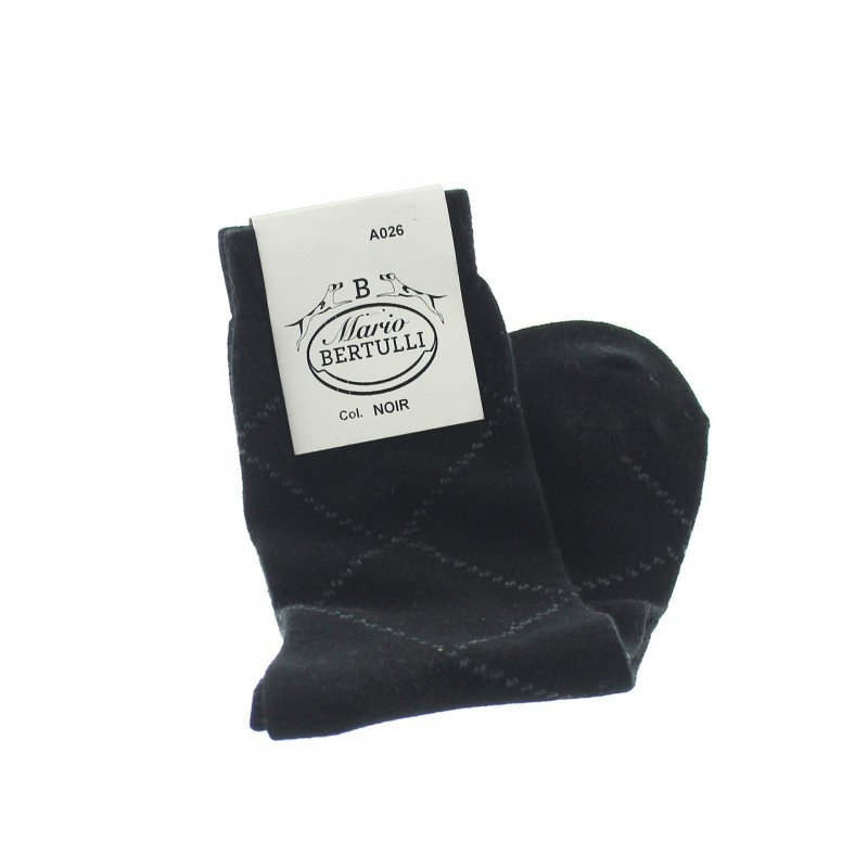BLACK WOOL/CACHEMIRE SOCKS