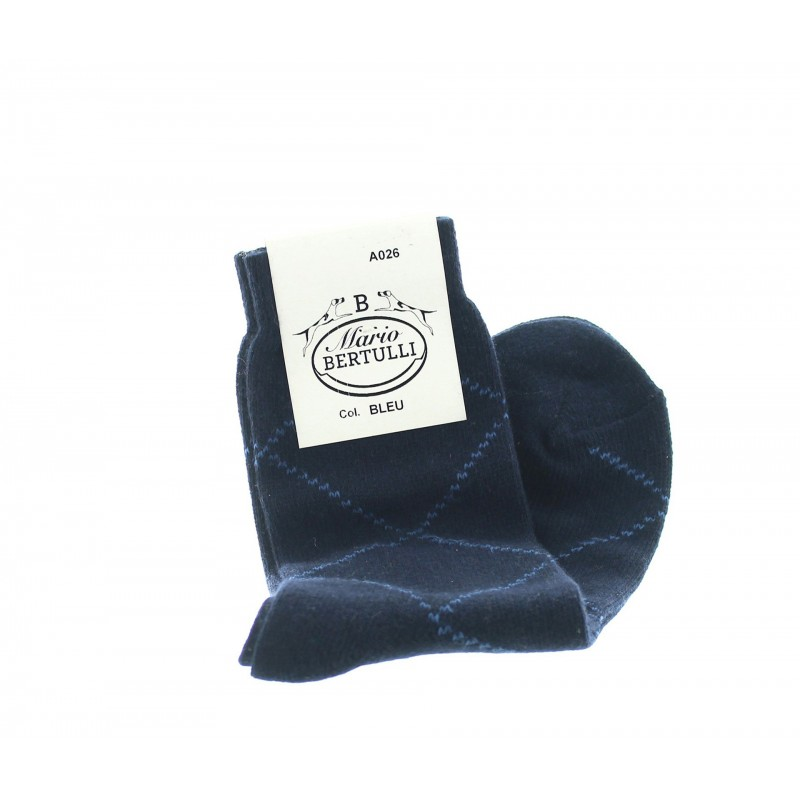 Blue wool/cachemire socks - Cashmere Socks from Mario Bertulli - specialist in height increasing shoes