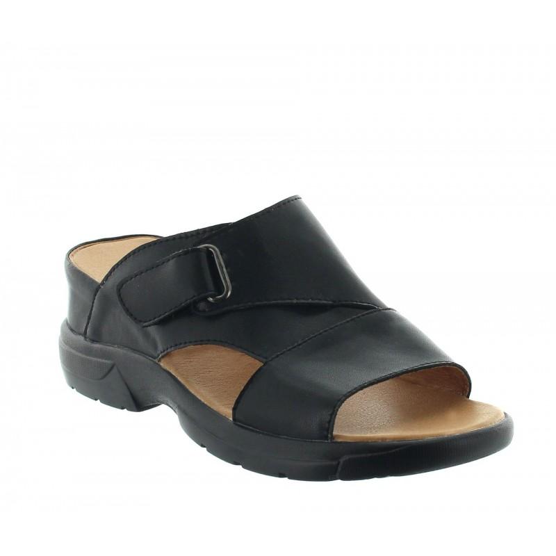 Height Increasing Sandals Men - Black - Leather - +2.4'' / +6 CM - Sossano - Mario Bertulli