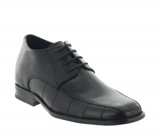 Height Increasing Derby Shoes Men - Black - Leather - +2.8'' / +7 CM - Maniago - Mario Bertulli