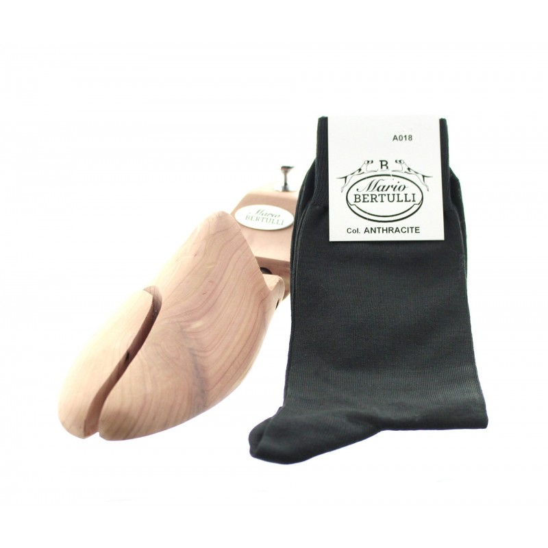 Anthracite scottish lisle thread socks - Scottish Lisle Cotton Socks from Mario Bertulli - specialist in height increasing shoes