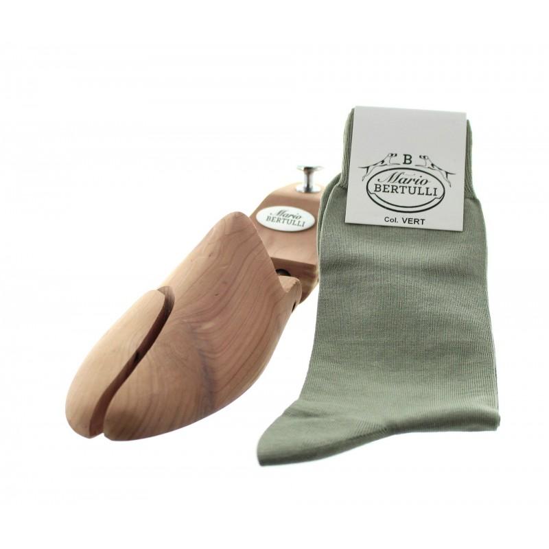 Green scottish lisle thread socks - Scottish Lisle Cotton Socks from Mario Bertulli - specialist in height increasing shoes