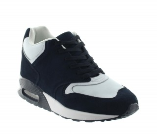 Baceno Elevator Sports Shoes Blue/White +2.6""