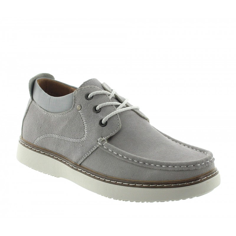 Height increasing loafers Men - Light gray - Nubuk - +2.2'' / +5,5 CM - Pistoia - Mario Bertulli