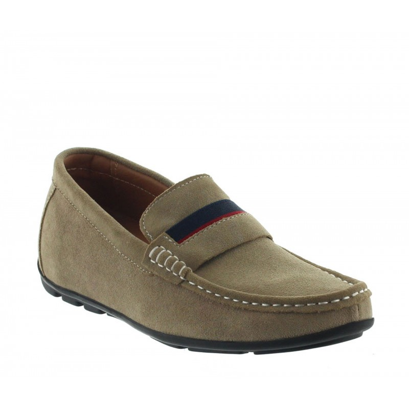 Height increasing loafers Men - Beige - Nubuk - +2.0'' / +5 CM - Sardegna - Mario Bertulli