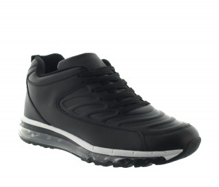 Height Increasing Sports Shoes Men - Black - Leather - +2.8'' / +7 CM - Baito - Mario Bertulli