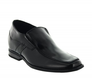Dover Elevator Loafer Shoes  Black +2.4''