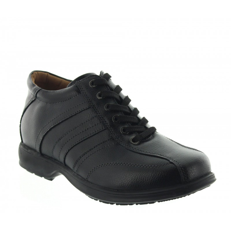 Height Increasing Derby Shoes Men - Black - Leather - +2.8'' / +7 CM - Carrara - Mario Bertulli