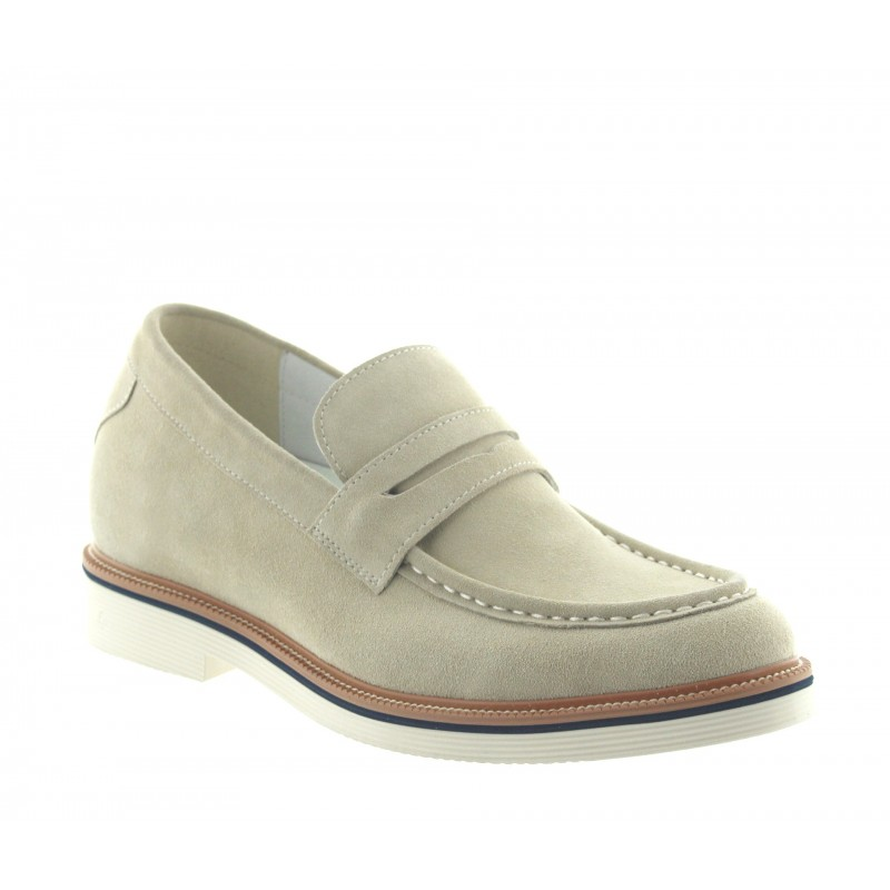 Height increasing loafers Men - Sand - Nubuk - +2.8'' / +7 CM - Stresa - Mario Bertulli